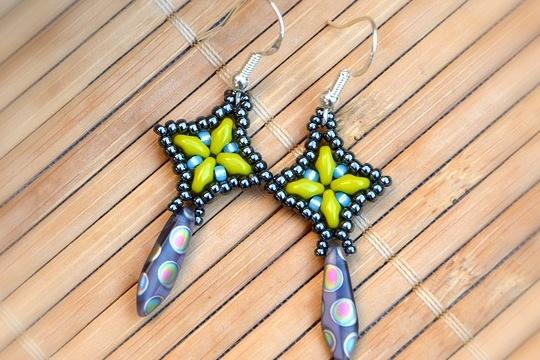 Dangle beaded earrings tutorial
