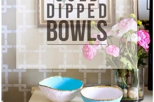DIY Gold Dipped Bowls
