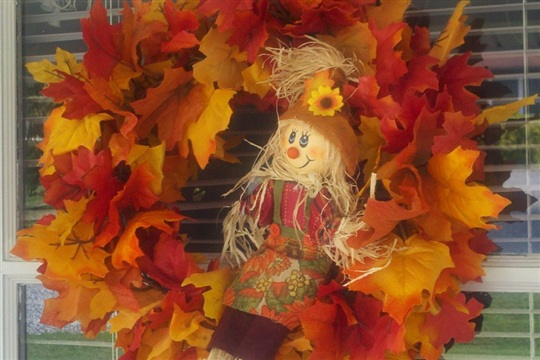 $5 DIY Autumn Wreath Easy to Make Fall Wreath with a Wire Hanger!