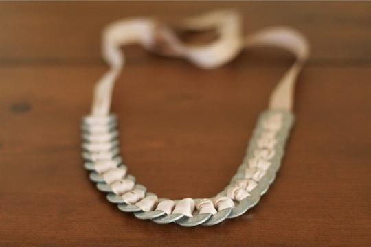 DIY Washer & Ribbon Necklace