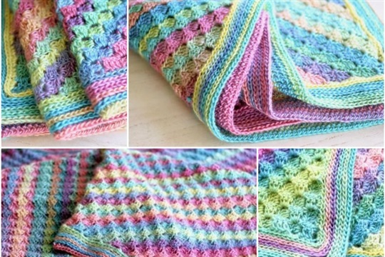 How to DIY Pretty Crochet Spring to Summer Blanket