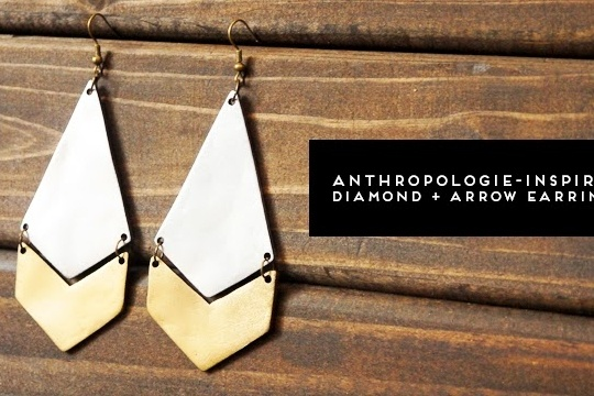 Diy: anthropologie-inspired diamond + arrow earrings
