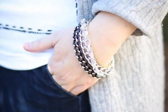 How to make a bracelet with leftover pieces of chain