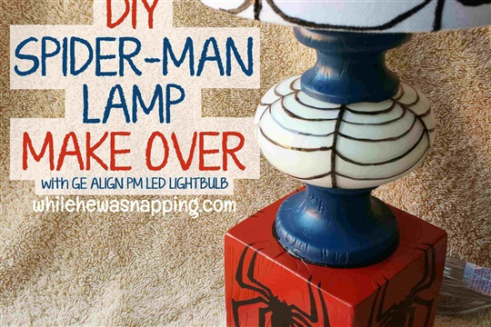 Encouraging Natural Sleep Spider Man DIY Lamp Makeover