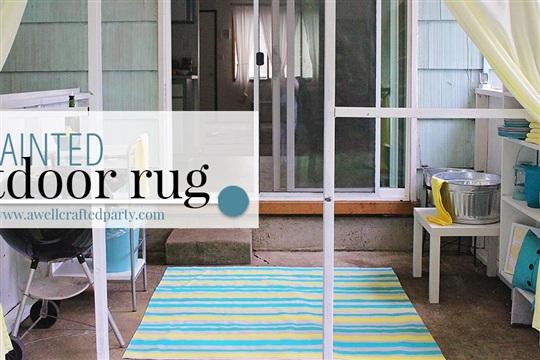 DIY Outdoor Rug from a Drop Cloth