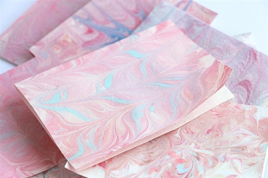 DIY Marbled Stationery Cards