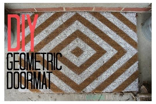 Reader Request DIY Geometric Doormat