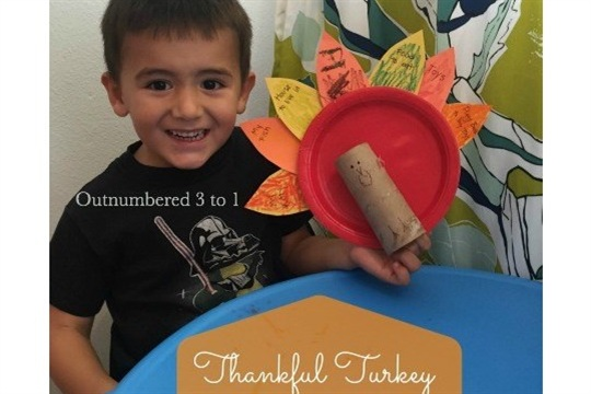 Little Tikes Bright 'n Bold Table & Chairs Set Makes Crafting Easy + Thankful Turkey Kids Craft