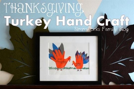 Thanksgiving Turkey Hand Craft
