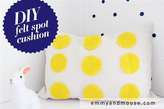 DIY felt circle cushion