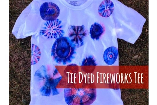 Tie Dyed Fireworks Tee