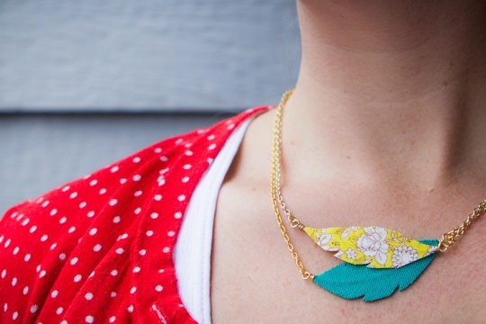 Prairie feather necklace