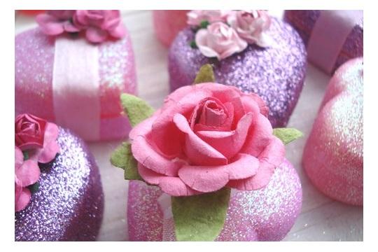 Glitter Valentine'sTreat Boxes