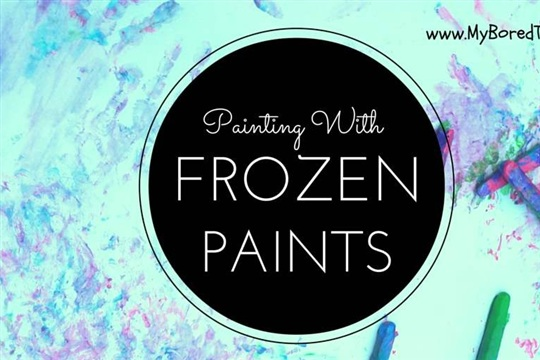 Painting with Frozen Paints