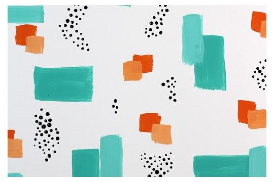 DIY Easy brush stroke abstract wall art