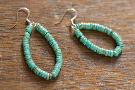 Quarterly collab DIY // turquoise teardrop earrings