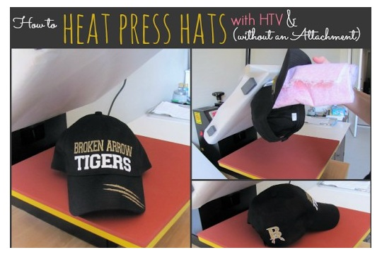 How to Heat Press a Hat No Special Attachment Needed (Silhouette HTV  Tutorial) ~ 82d1fabbc31d