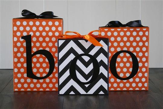 October Make and Take {BOO Blocks}