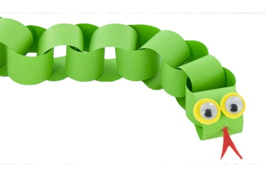 Chinese New Year Diy Craft Paper Chain Snake Craftsmile