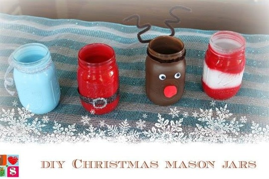 DIY Christmas Mason Jars {12 Days of Christmas}