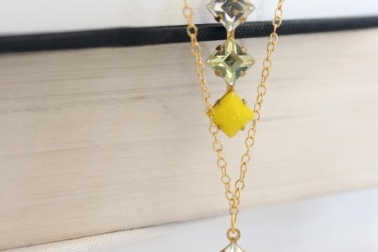 DIY delicate two-tier necklace