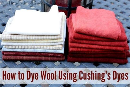 Primitive Rug Hooking - How to Dye Wool Using Cushings Dyes