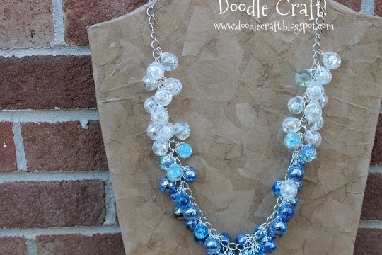 ombre marble necklace!