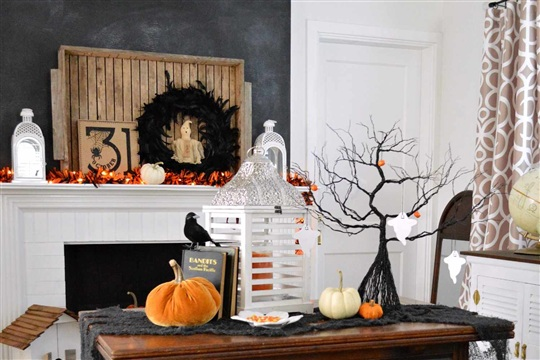 BOO! A Halloween Mantel At The Cottage