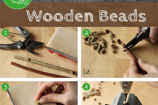 Easy Wooden Beads colorful crafts