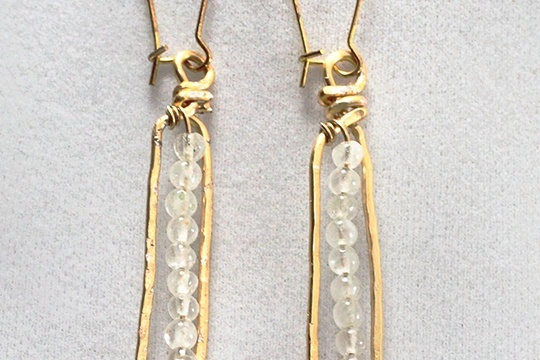 DIY anthro-inspired matchstick earrings