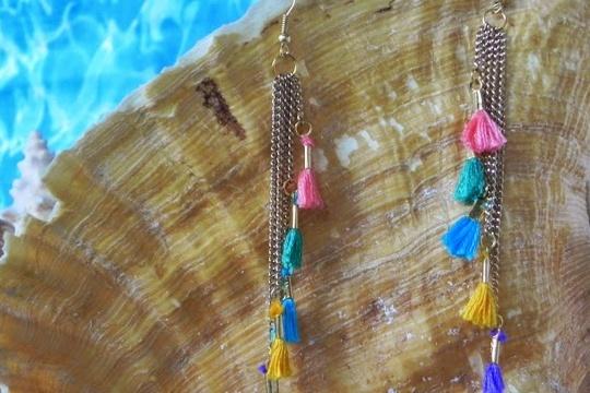 Smart n snazzy: DIY chain  mini-tassel earrings