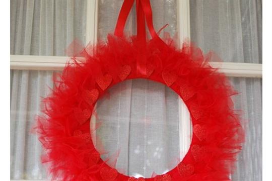 Quick Valentine's Day Wreath