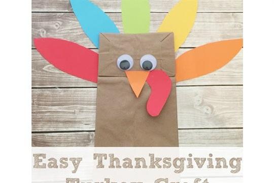 Easy Brown Bag Turkey #Thankgiving Craft