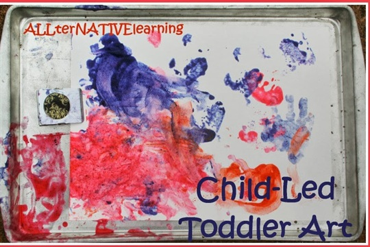 Painting with Pint Size Picasso Child Led Toddler Art ? Kara Carrero