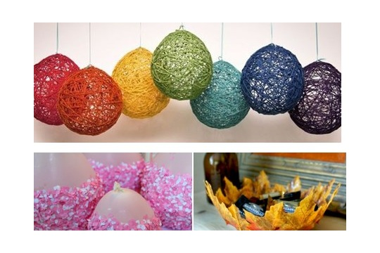 Best out of waste balloon craft craftsmile for Handicrafts from waste
