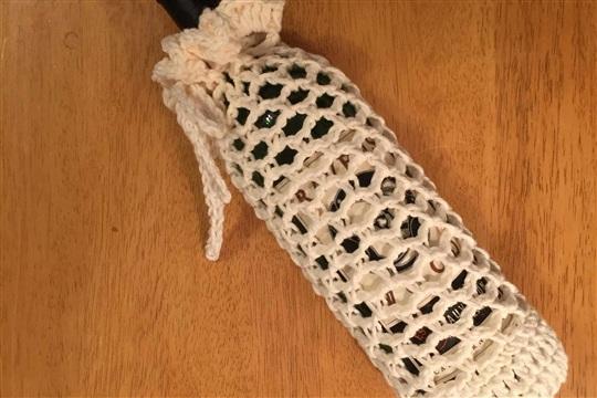 Crocheted Wine Bottle Cozy