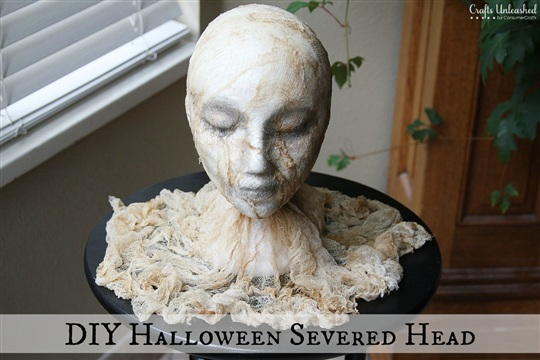 DIY Halloween {Super Creepy} Severed Head