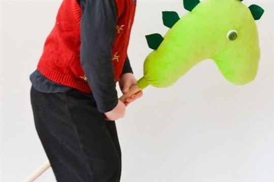 Dinosaur Hobby Horse DIY Project