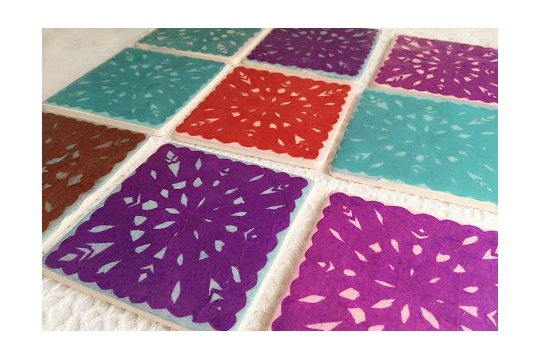 Papel picado coasters DIY