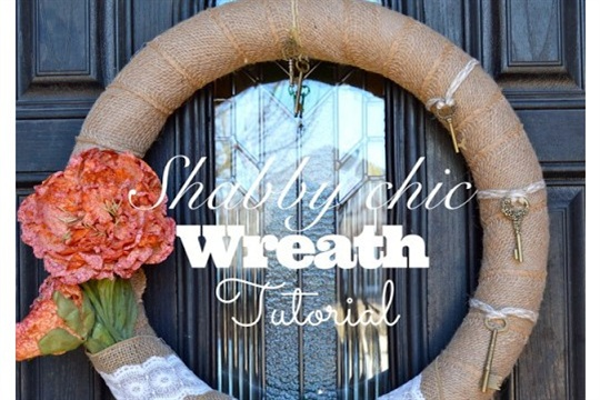 Shabby Chic Wreath Tutorial