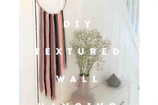 DIY textured wall hanging