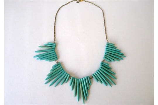 Thanks, I Made It DIY Turquoise Spike Necklace