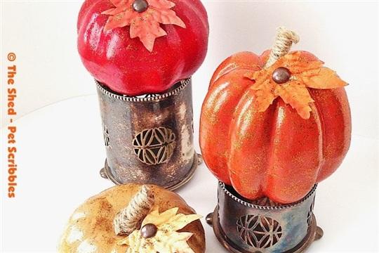Tone on Tone Glitter Pumpkins DIY