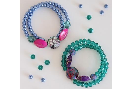 DIY : beaded cuff bracelet