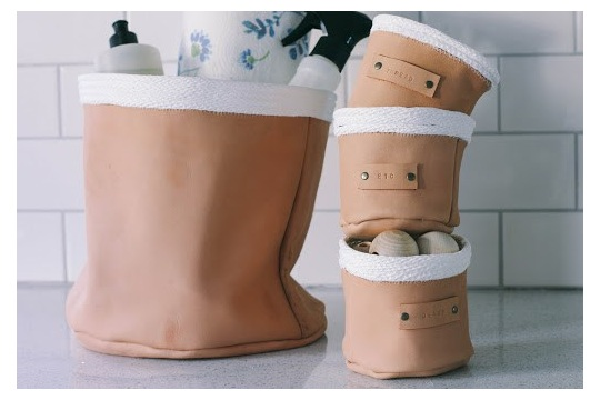 Leather & Rope Basket DIY