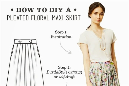 diy pleated floral maxi skirt craftsmile