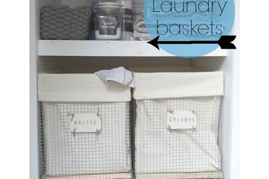 DIY wire laundry baskets