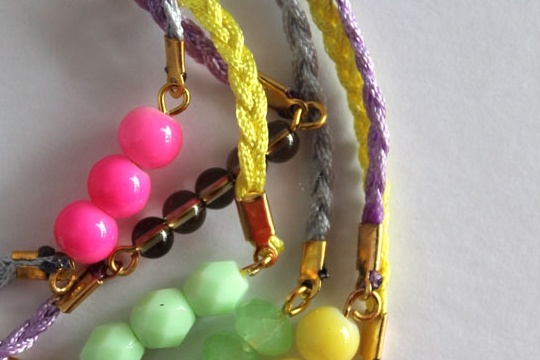 DIY - cord and bead friendship bracelet