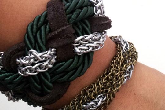 DIY braided chain bracelet