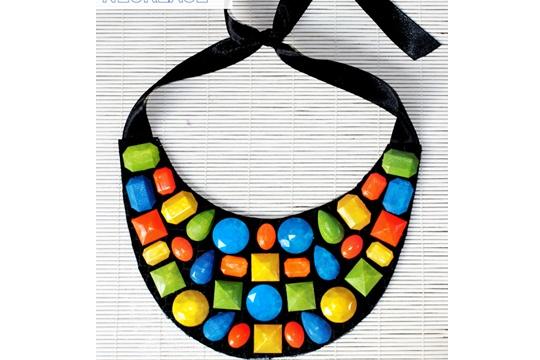 Neon gem necklace